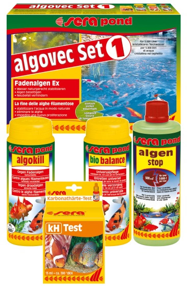 Sera pond algovec kit 1 exterminador de algas Antialgas para estanques con peces