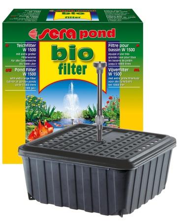 Sera pond filtro para estanque w 1500 peces estanques for Filtro casero para estanque
